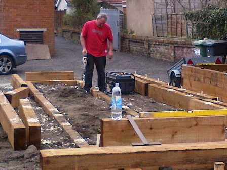 Creating the raised beds