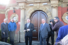 Cllrs Nash and Buckley reopen the library