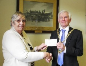 Grant cheque St Annes Pensioner association comp