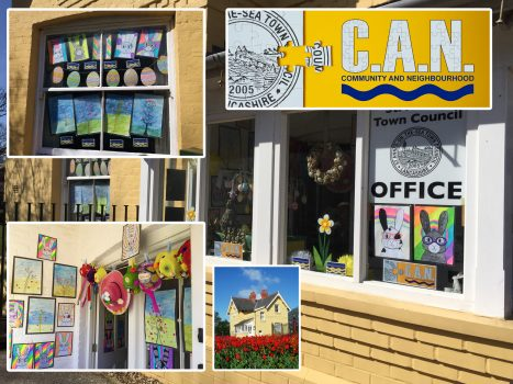 Spring Window Display at The West Lodge - St. Anne's Town Council